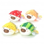 Cute Fruit Style Srotan TATA Seals Keychains with Suction Cups Set (4-Piece Pack)