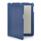 Stilvolle Slim-Fit Honeycomb Style-Protective PU Leather Case für iPad 2 - Dark Blue
