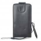 Protective Foldable PU Leather Case with Stylus Strap for Samsung i9100 Galaxy S2 - Black