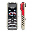 "Vertu 2.0"" LCD Screen Single SIM Tri-band Cellphone - Silver + Red"
