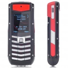 "Vertu 1.2"" LCD Screen Dual SIM Dual Network Standby Quad-band Cellphone - Silver + Red"