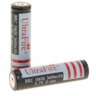 "UltraFire 18650 3.7V ""3600mAh"" Rechargeable Lithium Battery - Black +Grey (2pcs/set)"