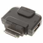 30Pin Male to Dual USB + RJ45 Female Adapter for Apple - Black