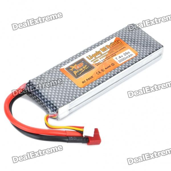 Replacement 7.4V 25C 3000mAh Li-Poly Battery Pack for R/C Car / Helicopter от DX.com INT