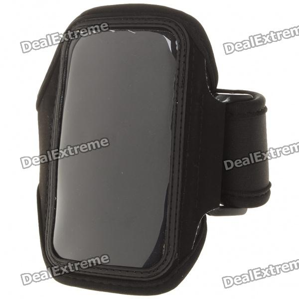 Neoprene Sports Armband Armlet for Iphone 4 - Black