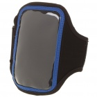 Neoprene Sports Armband Armlet for iPhone 4 - Black + Blue