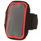 Neoprene Sports Armlet Armband for iPhone 4 - Black + Red