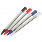 Aluminum Extendable Stylus for Nintendo 3DS - Red + Black + Blue + Silver (4-Pack)