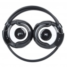 USB Rechargeable Trendy Sport MP3 Player Headset with FM Radio & TF Slot - Black + White