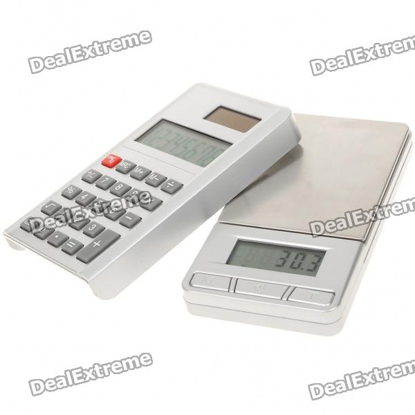 Tragbare Digital Pocket Scale + Calculator - 500g/0.1g (2 x AAA)