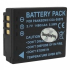 "Replacement S007/DCD10 3.7V ""1000mAh"" Battery Pack for Panasonic Lumix DMC-TZ1 Series"