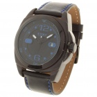 Fashionable Sports Waterproof Quartz Watch for Male - Black + Blue