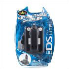 NDS 3In1 Retractable Car Charger Kit Black