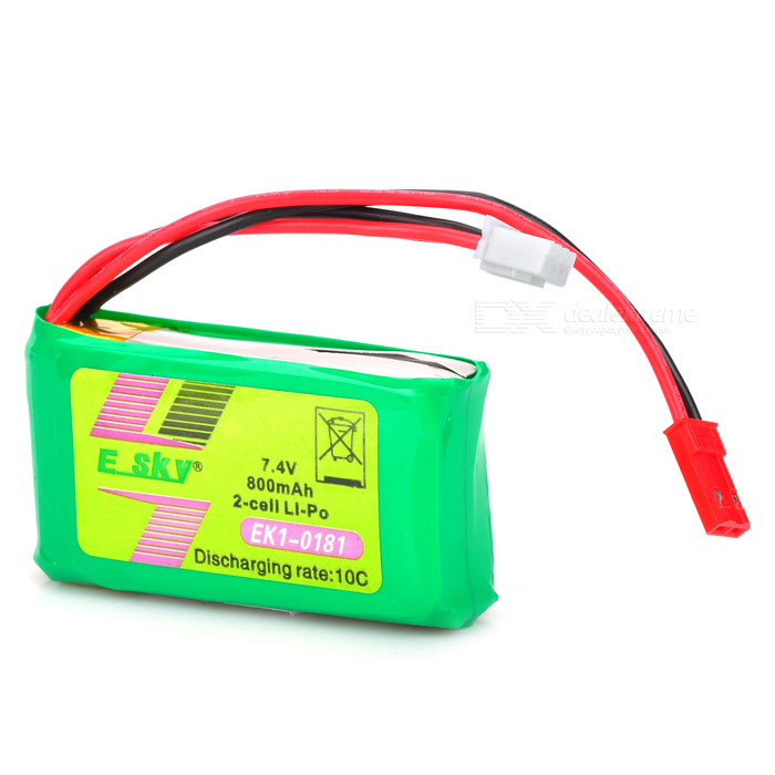 Replacement 7.4V 10C 800mAh Li-Poly Battery Pack for R/C Helicopter