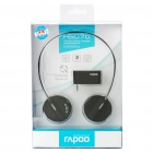 Rapoo H3070 2.4GHz Wireless Stereo Headset Headphone with Microphone & Volume Control - Black