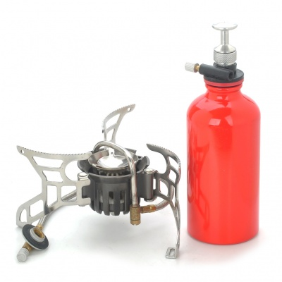 CAMPSOR-9 Camp Stove Split Type Oil or Gas Fuel (Silver)