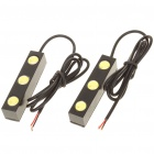 3W 10000K 210LM 3-LED White Light Daytime Running Lamps for Car (Pair/DC 12V)