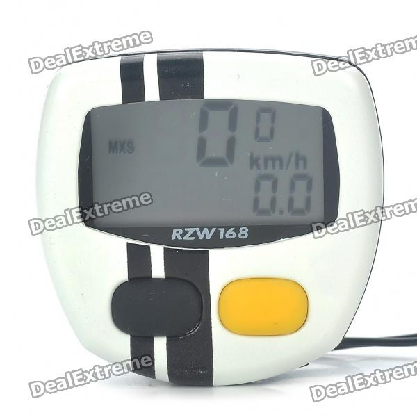 "1.4"" LCD Electronic Bicycle Speedometer - White (1xAG12)"