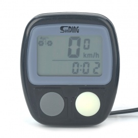 "SUNDING 1.2"" LCD Electronic Bicycle Speedometer (1 x AG13)"