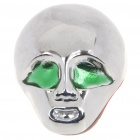 Cool Stainless Steel Alien Style Car Decorative Sticker - Silver + Green