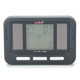 "Solar Powered 1.5"" LCD Electronic Bicycle Speedometer (1xCR2032)"