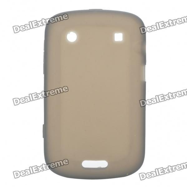 Protective Soft Silicone Back Case Cover for Blackberry 9900 - Dark Grey