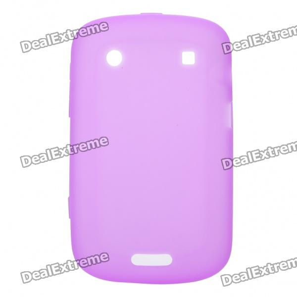 Protective Soft Silicone Back Case Cover for Blackberry 9900 - Purple