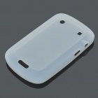 Protective Soft Silicone Back Case Cover for Blackberry 9900 - White