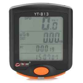 "1.7"" LCD Electronic Bicycle Speedometer - Black (1 x CR2032)"