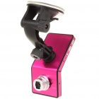 "720P 5MP Wide Angle Car DVR Camcorder w/ Night Vision/TV-Out/HDMI/TF Slot - Deep Pink (2.4"" TFT LCD)"