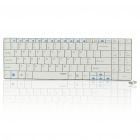 Rapoo E9070 Ultra Slim Wireless 99-Key Keyboard with Receiver - White (2xAAA)