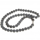 Natural Bian Stone Bead Necklace for Ladies (50CM)