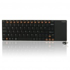 Rapoo E2700 Slim Wireless Multi-media Touchpad 80-Key Keyboard with Receiver - Black (2xAAA)