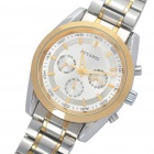 Stainless Steel Automatic Mechanical Water Resistant Wrist Watch - Silver + Gold