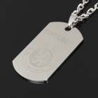 Cool Stainless Steel Chelsea Pattern Plate Pendant Necklace (58cm-Chain)