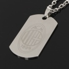 Cool Stainless Steel AC Milan Pattern Plate Pendant Necklace (58cm-Chain)