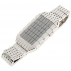 Unique Water Resistant 30-LED Display Wrist Watch - Silver (2 x CR2032)