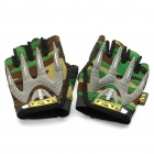 Tactical Sports Half Finger Gloves - Camouflage (Size M/Pair)