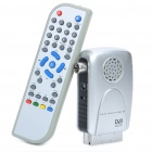 Mini DVB-T TV023 Digital Terrestrial Receiver w/ Remote Control - Silver