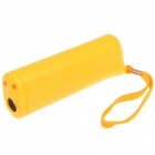 Ultrasonic Dog Repeller Training Device w/ 2-LED Flashlight - Orange (1 x 9V)