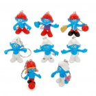 Buy The Smurfs Figure Toys with Keychain (8-Piece Pack)