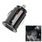 Car Cigarette Powered Dual USB Charging Adapter Charger for iPad/iPhone 3G/4/PSP/Cell Phone - Black