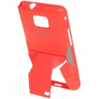 Creative Protective PVC Kickstand Back Case Transformer for Samsung Galaxy S2/i9100 - Red