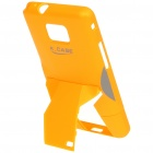 Creative Protective PVC Kickstand Back Case Transformer for Samsung Galaxy S2/i9100 - Yellow