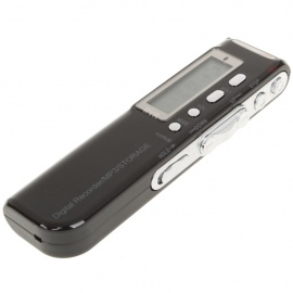 "1.4"" LCD Voice Recorder w/ MP3 Music Player - Black (2GB/2 x AAA)"