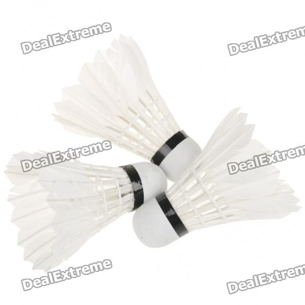 NINJA Sport Badminton Feather Shuttlecocks - White (3-Piece)