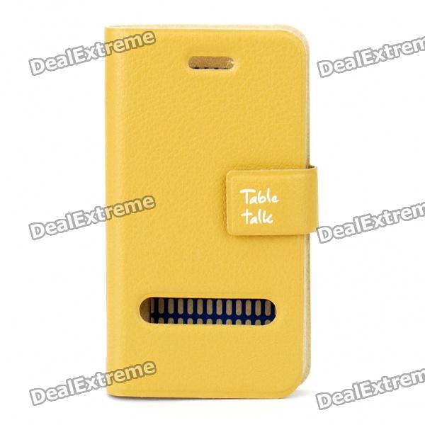 все цены на Elegant Protective PU Leather Case for Iphone 4 - Yellow Brown