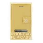 Elegant Protective PU Leather Case for Iphone 4 - Yellow Brown