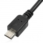 Micro USB Male to Female OTG Cable for Samsung + More - Black (12cm)