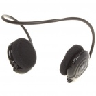 Sports USB Rechargeable MP3 Player Headset w/ FM/Microphone/TF Slot - Black